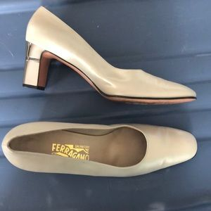 Salvatore Ferragamo calf bone baguette pumps 11